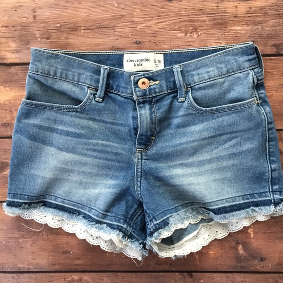 abercrombie kids Other - Abercrombie Kids Jean Shorts Lace trim 15/16